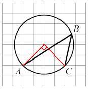 Как найти градусную меру вписанного угла на клетчатой бумаге